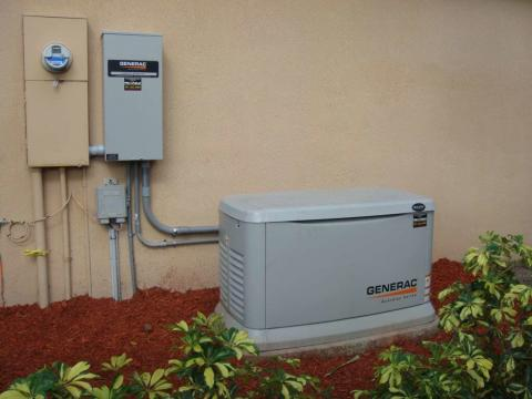Integrated home generator